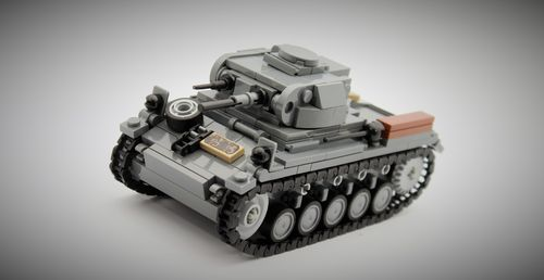 Custom WWII SdKfz 121 Panzerkampfwagen II out of LEGO® bricks