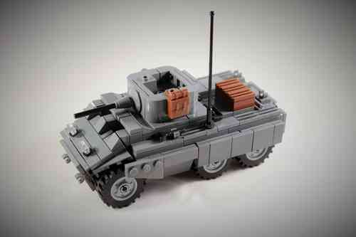 Custom WWII M8 Greyhound out of LEGO® bricks