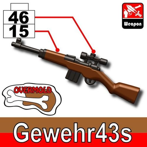 MinifigCat Custom Gewehr 43 Dark Black+Brown