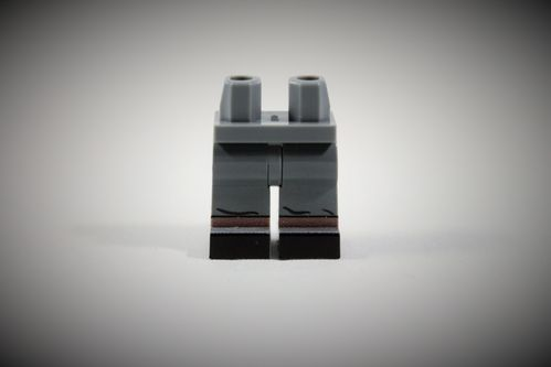 "UNITED BRICKS ""Dark Bluish Grey German Legs"" out of LEGO® bricks"
