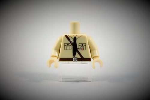 "Torso German ""Pimpf"" out of LEGO® bricks"