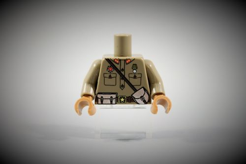 Torso Russian Army Officer out of LEGO® bricks