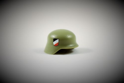Printed Wehrmacht Stahlhelm (Color: Light Green)