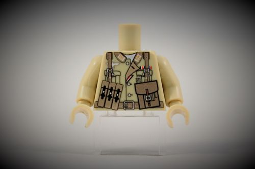 Torso Afrikakorps Officer I out of LEGO® bricks