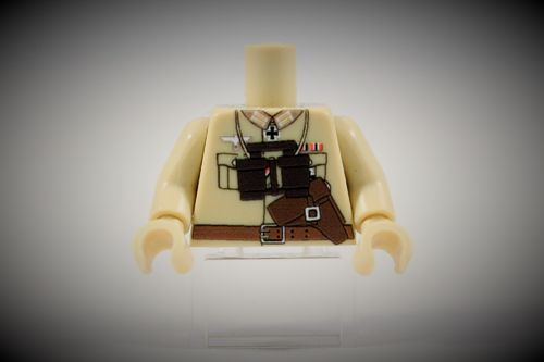 Torso Afrikakorps Officer II out of LEGO® bricks