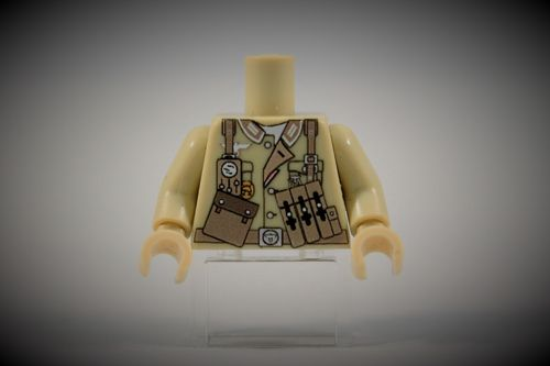 Torso Afrikakorps Sergeant out of LEGO® bricks