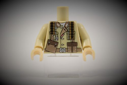 Torso Afrikakorps Soldier II out of LEGO® bricks