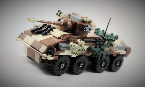 "Custom ""Camo"" WWII SdKfz 234 ""Puma"" out of LEGO® bricks"