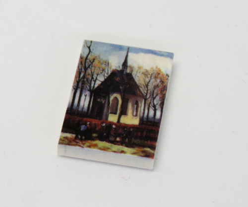 "Printed LEGO® tile 2x3 ""Church"""