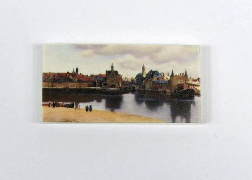 "Printed LEGO® tile 2x4 ""View Delft"""