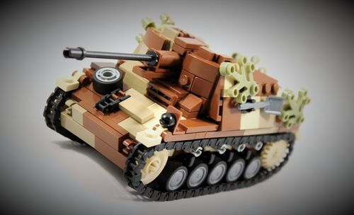 "Custom ""Camo"" WWII SdKfz 131 ""Marder II"" out of LEGO® bricks"