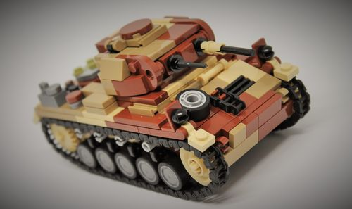 "Custom ""Camo"" WWII SdKfz 121 Panzerkampfwagen II out of LEGO® bricks"