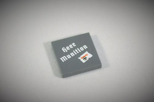"Printed LEGO® tile 2x2 ""Heer Munition"""