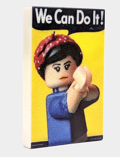 "Valiant Bricks bedruckte 2x3 Fliese ""We can do it"" aus LEGO® Teilen"