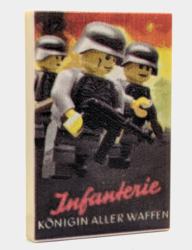 "Valiant Bricks printed 2x3 Tile ""Infanterie"" out of LEGO® bricks"