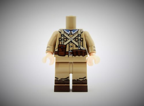 WWII Polish Soldier 1 out of printed LEGO® bricks (Color: Dark Tan)