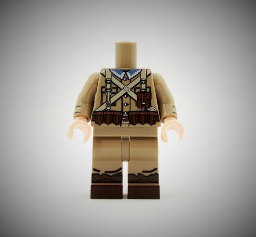 WWII Polish Soldier 2 out of printed LEGO® bricks (Color: Dark Tan)