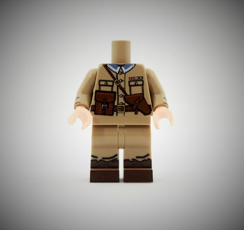 WWII Polish Officer out of printed LEGO® bricks (Color: Dark Tan)