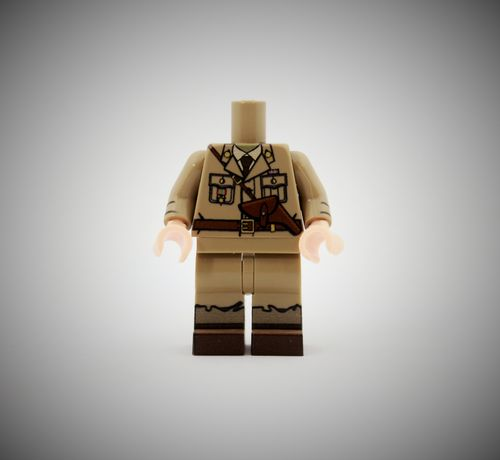 WWII British Officer out of printed LEGO® bricks (Color: Dark Tan)