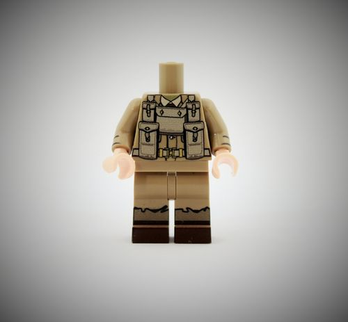 WWII British Soldier 1 out of printed LEGO® bricks (Color: Dark Tan)