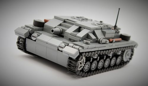 StuG III Ausf. A (SdKfz 142) (Color: Dark bluish grey) out of LEGO® bricks