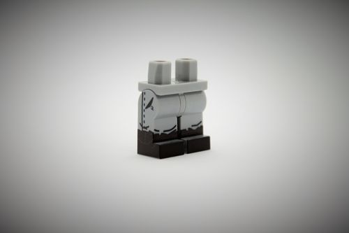 WWII Legs out of printed LEGO® bricks (Color: Light Bluish Grey)