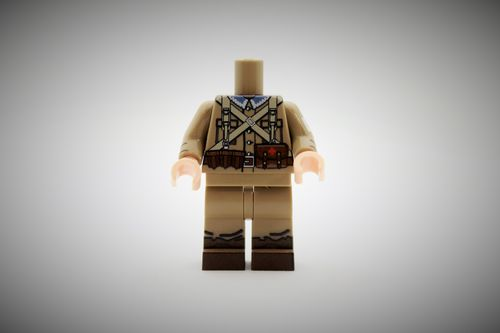 WWII Polish Medic out of printed LEGO® bricks (Color: Dark Tan)