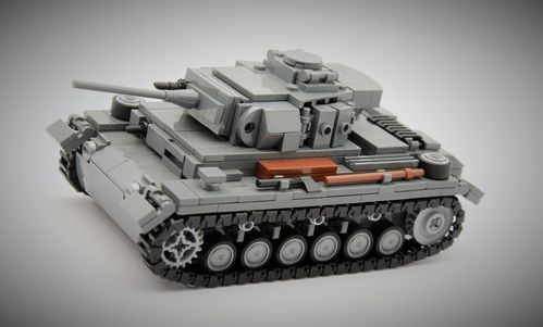 Panzerkampfwagen III Ausf. L (Color: Dark bluish grey) out of LEGO® bricks